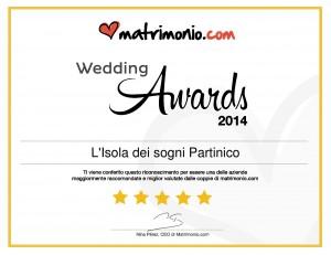 L'Isola dei sogni Partinico, vincitore Wedding Awards 2014 matrimonio.com