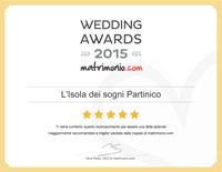 L'Isola dei sogni Partinico, vincitore Wedding Awards 2015 matrimonio.com